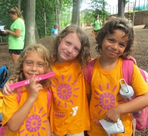 """These youngsters at the West Chester YMCA give new meaning to the term """"happy camper."""""""