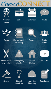 ChescoConnect Mobile App screen shot