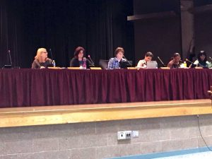 """At the noticeably quiet and uneventful committee meeting and special board meeting of the Coatesville Area School District Tuesday, neither school board members, nor superintendent Dr. Cathy Taschner addressed accusations made by the group, """"The Movement,"""" at the last school board meeting in April."""