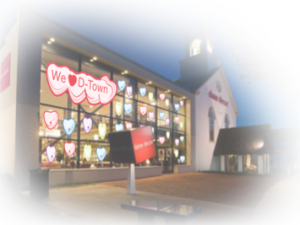 An artist's rendering shows how the Valentine's-themed display will look.