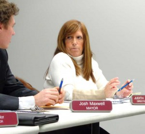 Downingtown Finance Director Judith Walters explains to Mayor Josh Maxwell and the Borough Council the detail of a financial audit that again shows a need for the borough to upgrade its accounting software.