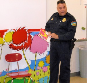 "West Caln Township Police Chief Curt Martinez, who read a Dr. Seuss book during the 2013 ""Read Across America"" program, will return for this year's event."