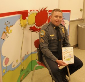 "Lt. James Audette was one of numerous representatives from the Coatesville Police Department during the 2013  ""Read Across America"" festivities."