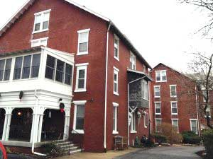 The Sharpless-Hall Building at The Hickman will begin demolition next week.