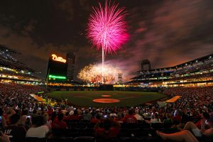 While the Phillies have struggled this year, their annual holiday fireworks remain at the top of the league.