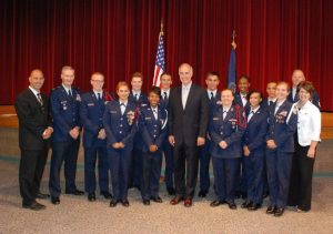 Senator Casey took time to speak with cadets of the AFJROTC program at the high school.