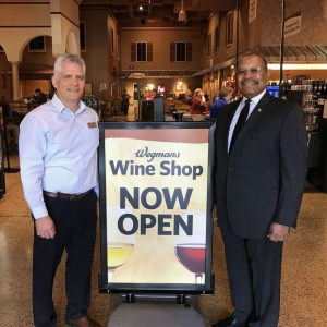 The Downingtown Wegmans Wine Shop officially opened for sales Friday morning.