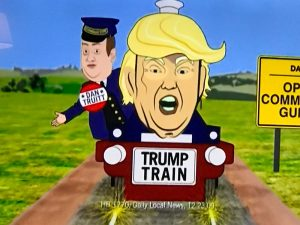 The Trump Train is truly a scary place -- in a Carolyn Comitta commercial.