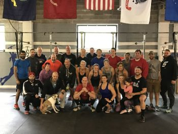 Members of The Weekly Fight meet every Sunday at Cross Fit Inspire in Frazer.